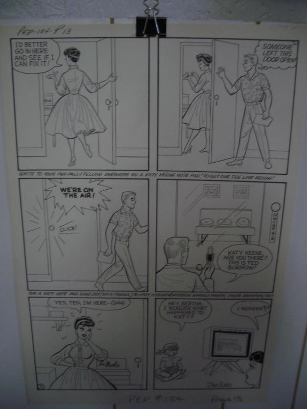 KATY KEENE ORIGINAL ART - PEP COMICS #134 PG 13  WOGGON FN