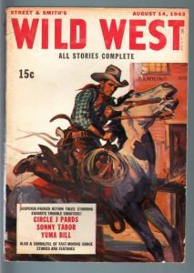 WILD WEST WEEKLY 8/14/1943-WESTERN PULP-SONNY TABOR FN