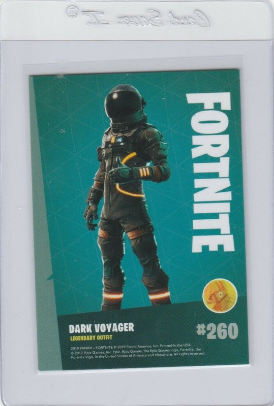Fortnite Dark Voyager 260 Legendary Outfit Panini 2019 trading card series 1