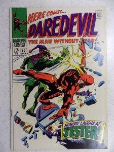 DAREDEVIL # 42 MARVEL SILVER FEAR ACTION ADVENTURE HI GRADE VF