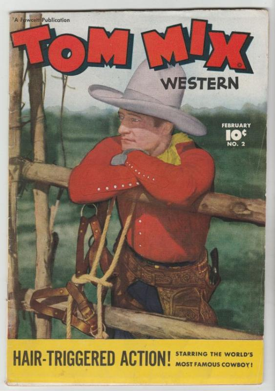 Tom Mix Western #2 (Feb-48) FN/VF Mid-High-Grade Tom Mix
