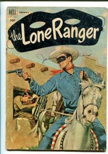 LONE RANGER #44-1952-DELL-WESTERN-RADIO-TV-SECRET IDENTITY-THRILLS-good