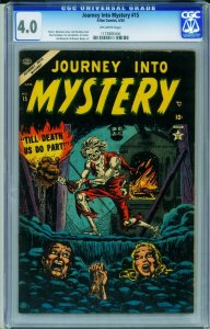 Journey Into Mystery #15 CGC 4.0 live burial cover! PCH Atlas 1173886006