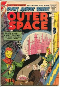 Outer Space #22 1959-Charlton-Visit To Venus-sci-fi stories-VG-