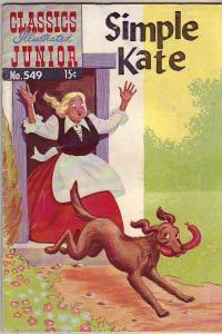 Classics Illustrated Junior #549 (Apr-58) FN- Mid-Grade Simple Kate