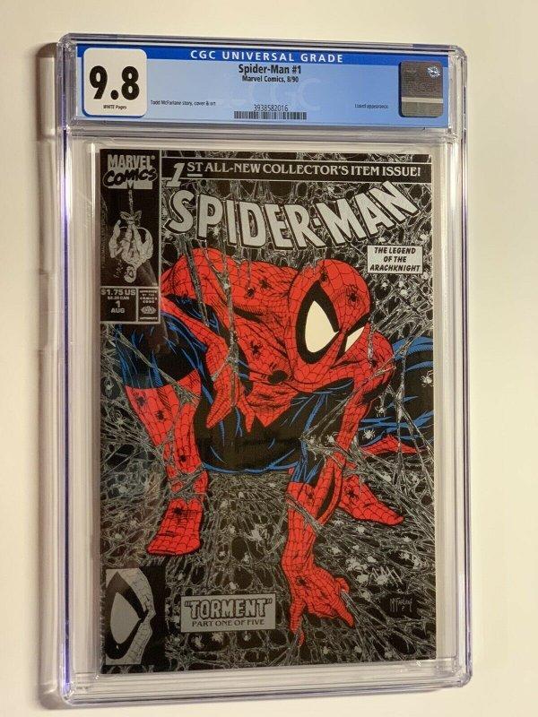 Spider-Man 1 CGC 9.8 WP Marvel 1990 Silver Edition