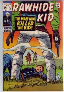 Rawhide Kid #75 strict VF+ 8.5 High-Grade  Tons more Westerns posted up now