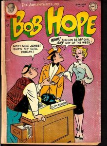 ADVENTURES OF BOB HOPE #28-MOVIE RELATED COMIC DC 1954 VG