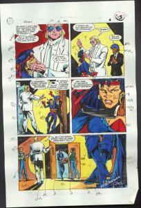 ROBIN #4-1990 PRODUCTION ART-COLOR GUIDE PG 9-TOM KYLE VG