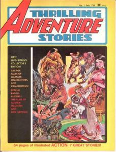 THRILLING ADVENTURE STORIES (1975) 1 FINE Feb. 1975