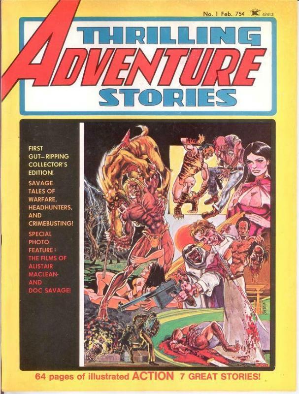 THRILLING ADVENTURE STORIES (1975) 1 FINE Feb. 1975
