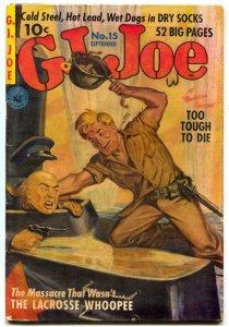 G.I. Joe #15 1952- Saunders cover- DECARLO GGA art- WENDY THE WAF