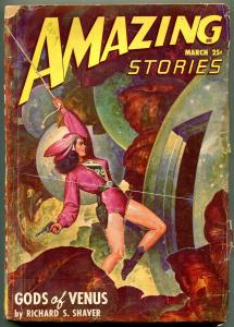 Amazing Stories Pulp May 1948- Gods of Venus- GGA cover