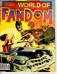 World of Fandom Magazine Vol. 2 #19 1993 Cadillacs Dinosaurs JB Macabre Godzilla