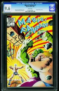 Marvel Fanfare #7 1983- CGC Graded 9.6 White Pages- - 0155327004