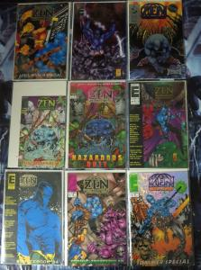 ZEN INTERGALACTIC NINJA - Lot of 9 issues All #1s Eternity Comics