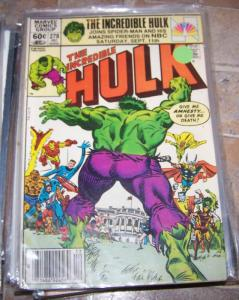 Incredible Hulk  # 278 1982 marvel avengers ronald regan thor banner x men