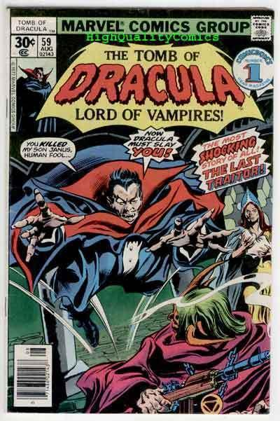 TOMB of DRACULA #59, VG/FN, Vampire Undead, Wolfman,1972, more TOD in store