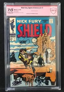 Nick Fury #7  (Marvel, 1968) CBCS 7.0 ver sigs of Steranko & Stan Lee