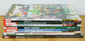 Lot of (10) Marvel TPBs - avengers - spider-man blue - iron man - (value: $173)