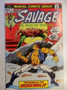 DOC SAVAGE # 7 MARVEL BRONZE PULP ACTION HI GRADE