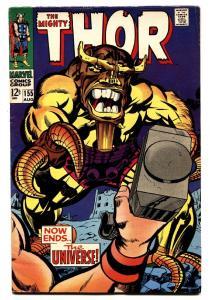 THOR #155 comic book-JACK KIRBY-MARVEL FN