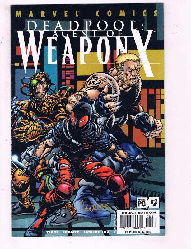 Deadpool # 2 (58) NM 1st Print Marvel Comic Book SIGNED By Georges Jeanty BN3