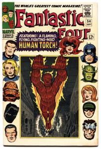 FANTASTIC FOUR #54 Black Panther comic book 1966-MARVEL COMICS VF-