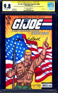 GI Joe #266 ONE STOP BLANK CGC SS 9.8 signed Duke Sketch Justus Michael Bell