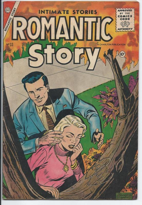 Romantic Story Vol. 1, #33 - Silver Age - August 1956 (VG)