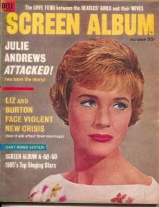 Screen Album-Julie Andrews-Beatles-Liz Taylor-Richard Burton-Sept-1964
