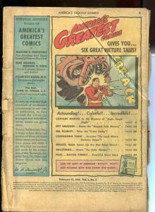 AMERICA'S GREATEST COMICS #6-BARGAIN COPY-Capt. Marvel P