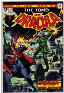 TOMB OF DRACULA 22 VG+ July 1974 COMICS BOOK