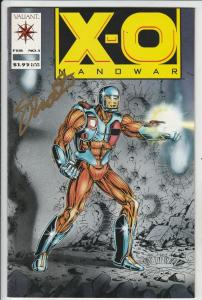 X-O Manowar Signed #1 (Feb-92) NM- High-Grade X-O Man O War