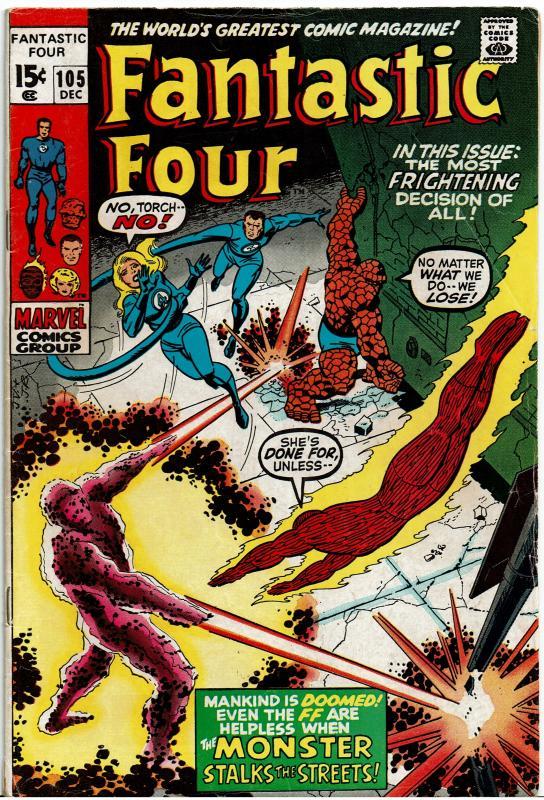 Fantastic Four #105, 4.0 or Better