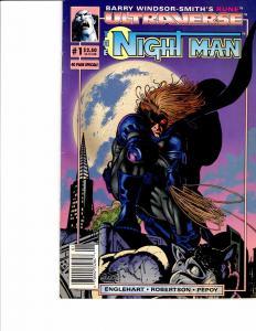 Lot Of 2 Malibu Comic Books Ultraverse Night Man #1 and Mantra #1  ON3