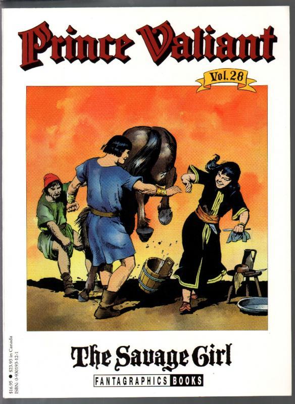 Prince Valiant #28 1995-Fantagraphics-color reprint-Hal Foster-Savage Girl-VF
