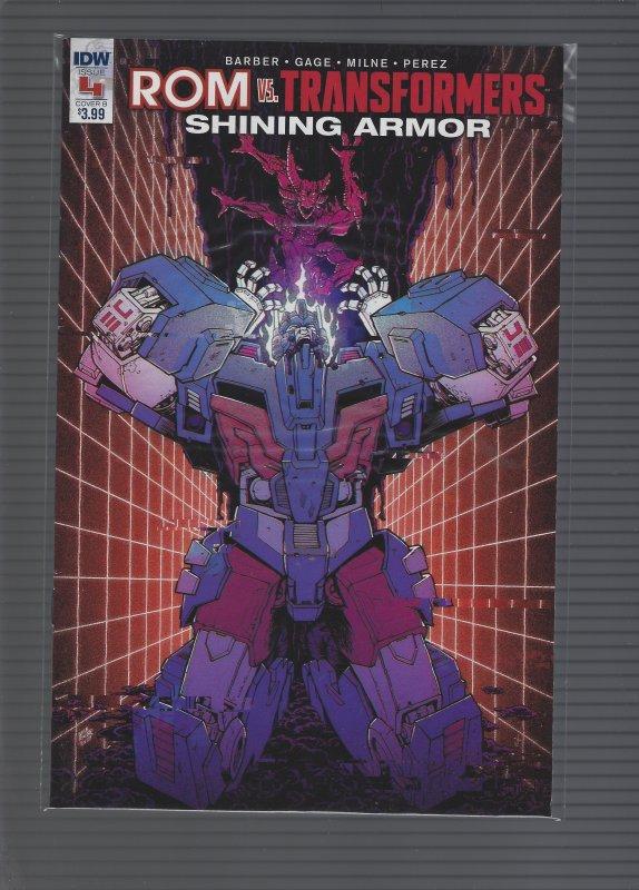 ROM VS Transformers #4 Cover B