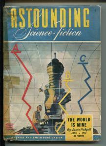 ASTOUNDING SCIENCE FICTION 06/1943-PULP SCI-FI-LEWIS PADGETT-ANTHONY BOUCHER-vg