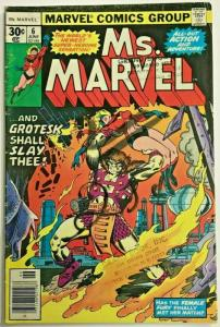 MS. MARVEL#6 VG 1977 BRONZE AGE COMICS