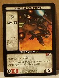 1998 Battletech Arsenal Card Fire Falcon Prime