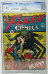 Flash Comics #24 ~ DC 1941 ~ CGC 7.0 ~ 1st Full Appearance of Hawkgirl