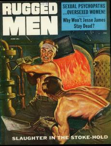 Rugged Men Pulp Magazine June 1956- Jesse James- Red Light District FN