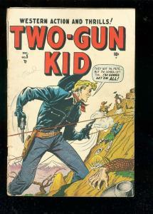 TWO-GUN KID #5 1948-MARVEL-WERTHAM-BLACK RIDER-SPANKING VG-