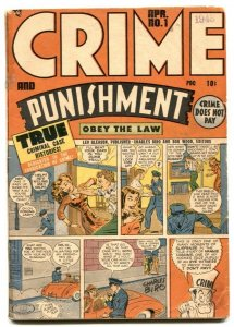 Crime and Punishment #1 1948- Golden Age 1st issue VG-