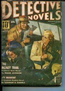 DETECTIVE NOVELS  4/1942-MYSTERY & CRIME PULP-CRIMSON MASK-fr
