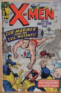 The X-Men #6 (1964) Sub-Mariner, Brotherhood fo Evil Mutants. High Grade!!
