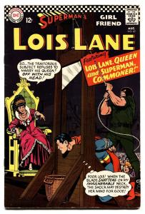 SUPERMAN'S GIRL FRIEND LOIS LANE #67 1966-Beheading cover-DC