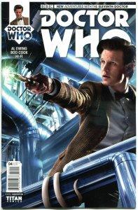 DOCTOR WHO #4 B, NM, 11th, Tardis, 2014, Titan, 1st, more DW in store, Sci-fi