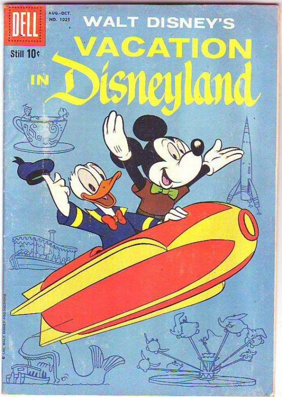 Four Color #1025 (Aug-59) FN+ Mid-Grade Mickey Mouse, Goofy, Donald Duck, Unc...
